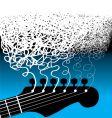 guitar strings scribble square vector image