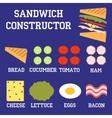 sandwich constructor vector image
