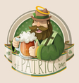 St Patrick day card vector image