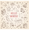 Welcome winter background vector image