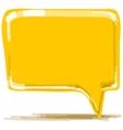 Yellow speech bubble cartoon vector image