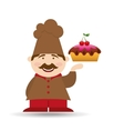 sweet cake baker vector image