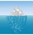 Polygonal iceberg in the sea Low poly design vector image