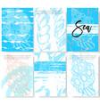 set of trendy stylish templates on sea theme vector image