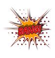 Cartoon of bang vector image