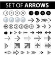 Set of arrows text vector image