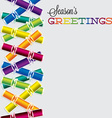 Bright Christmas cracker card in format vector image