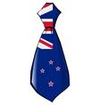 necktie in national colours of New Zealand vector image