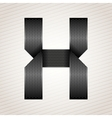 Letter metal ribbon - X vector image vector image