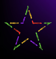 magical star vector image