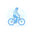 male character in flat linear style vector image vector image
