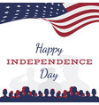 celebrate happy 4th of july - independence day vector image