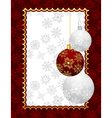 christmas background with set balls - vector image