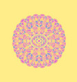 ethnic pattern authentic mandala print on yellow vector image