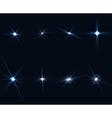 Light Glow Flare Stars Effect Set on transparent vector image