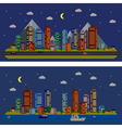Night urban landscape vector image