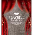 playbill vector image