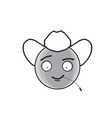 smiling cartoon face country man positive people vector image