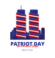 to the patriot day in America vector image