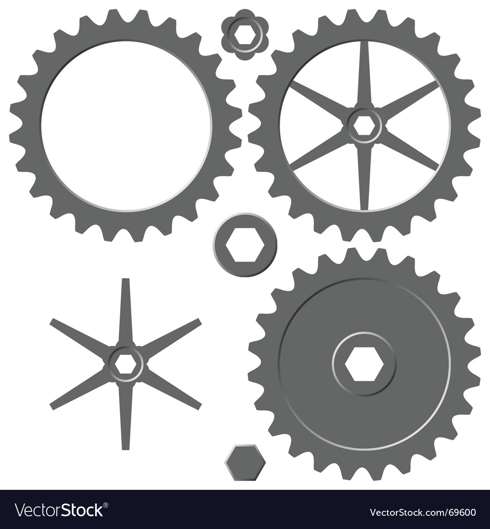 Cogwheel elements vector