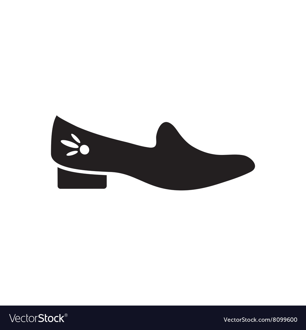 Flat icon in black and white shoes vector