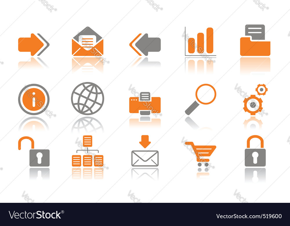 Web and internet icons oran vector