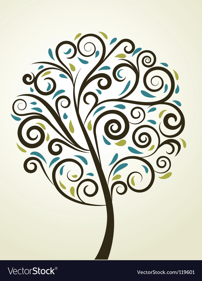 Artistic tree vector