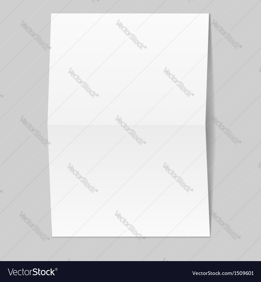 White blank paper card vector