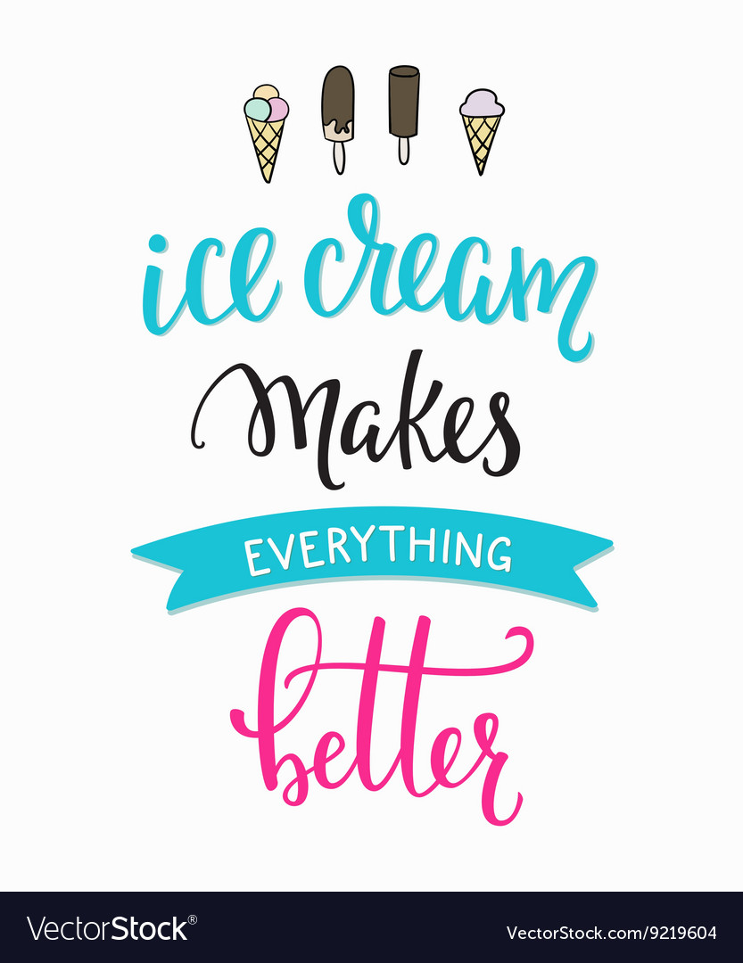 Ice cream shop promotion motivation advertising vector