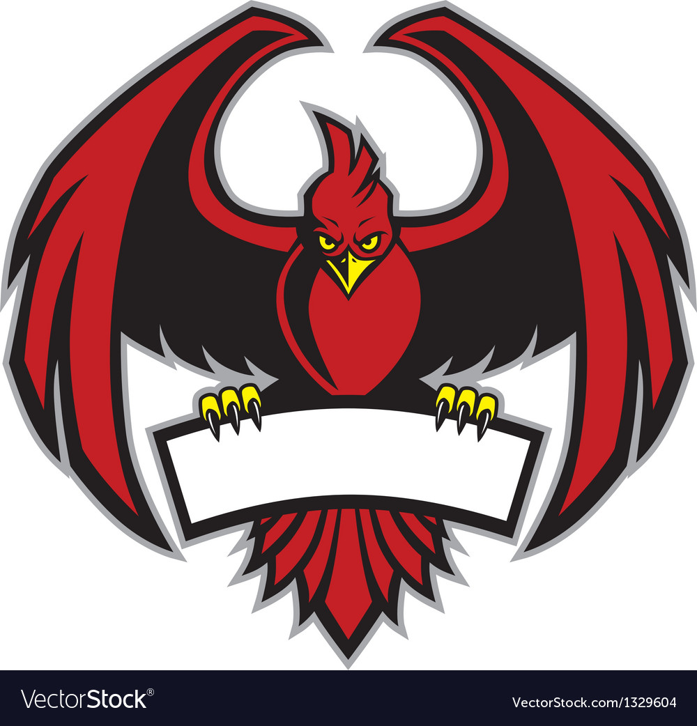 Red bird mascot vector