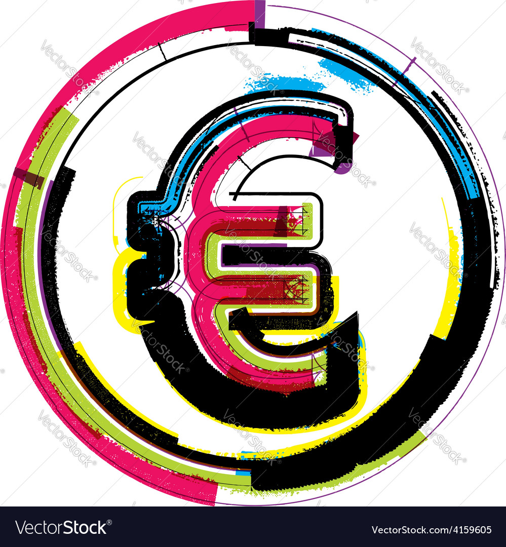 Colorful grunge symbol vector