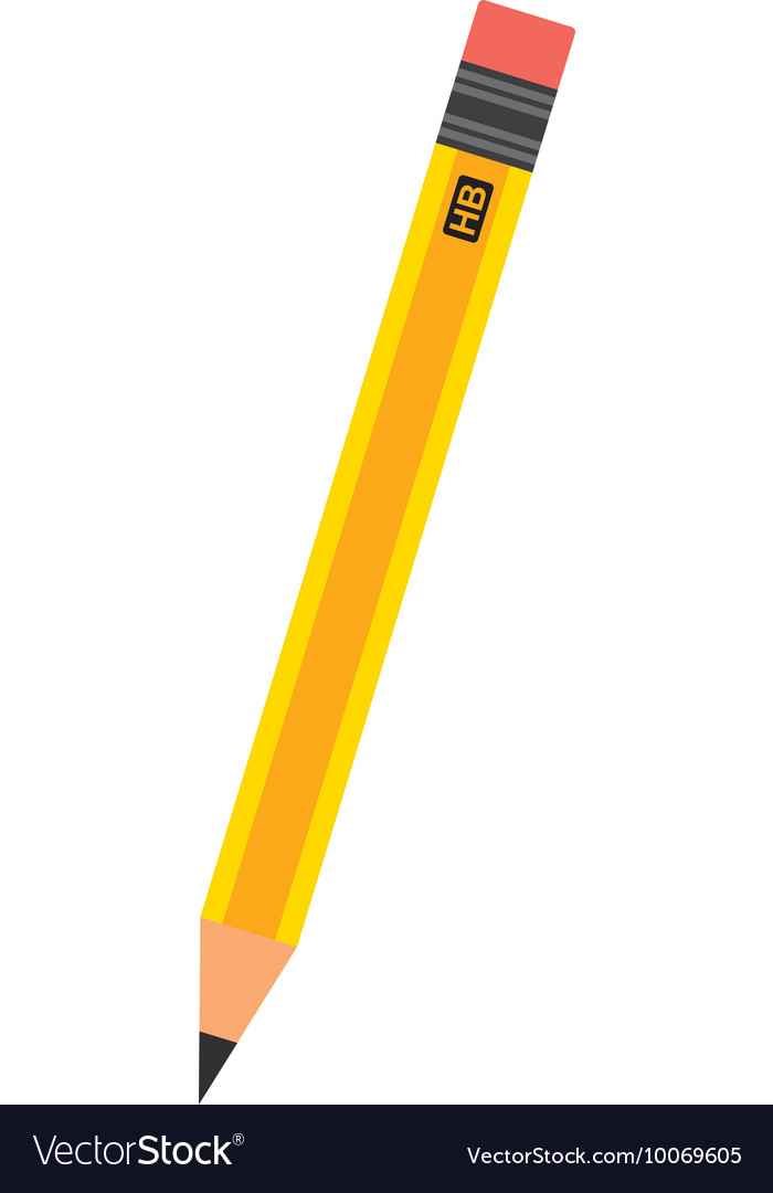 Pencil school supply icon vector