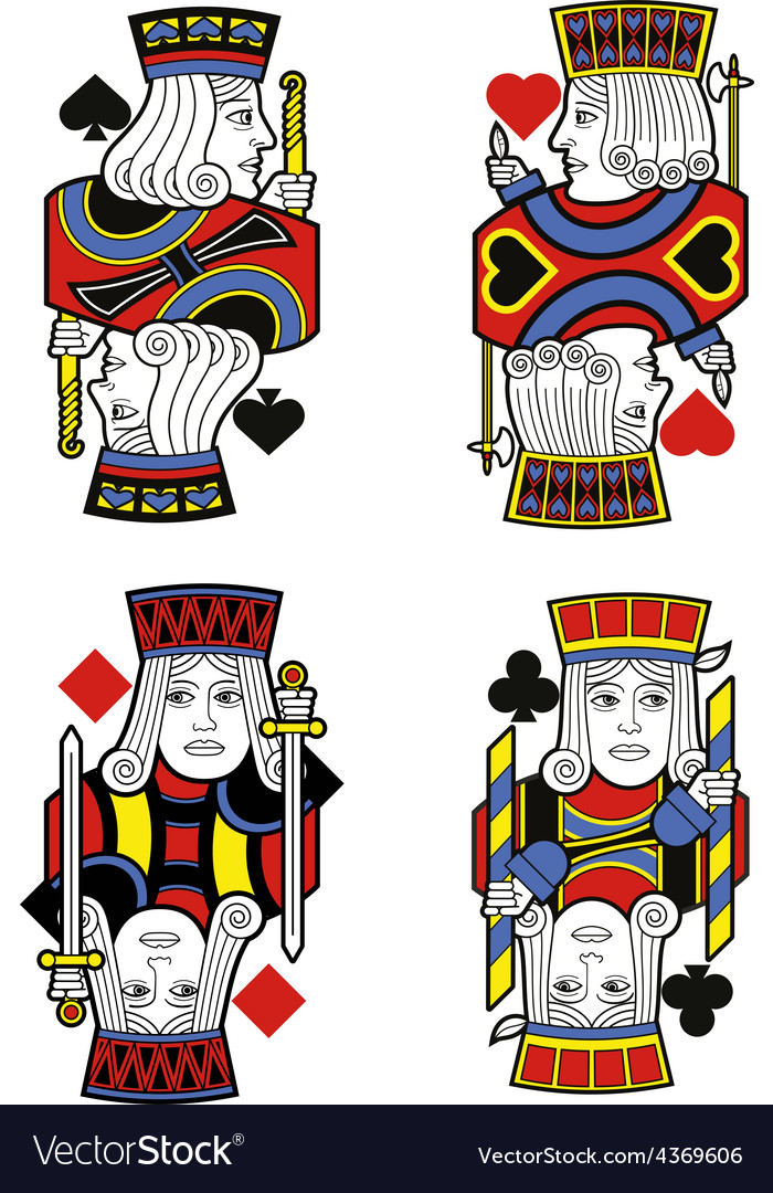 Four jacks no cards vector