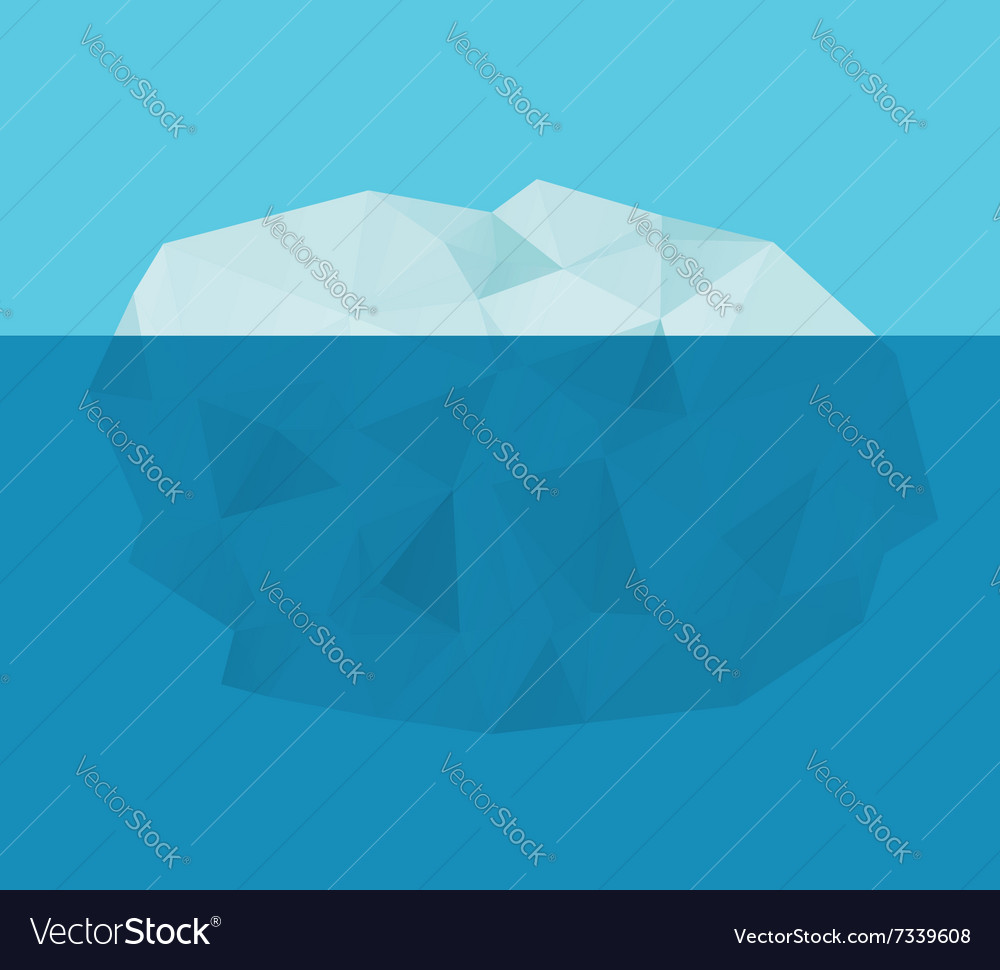 Iceberg in the water vector