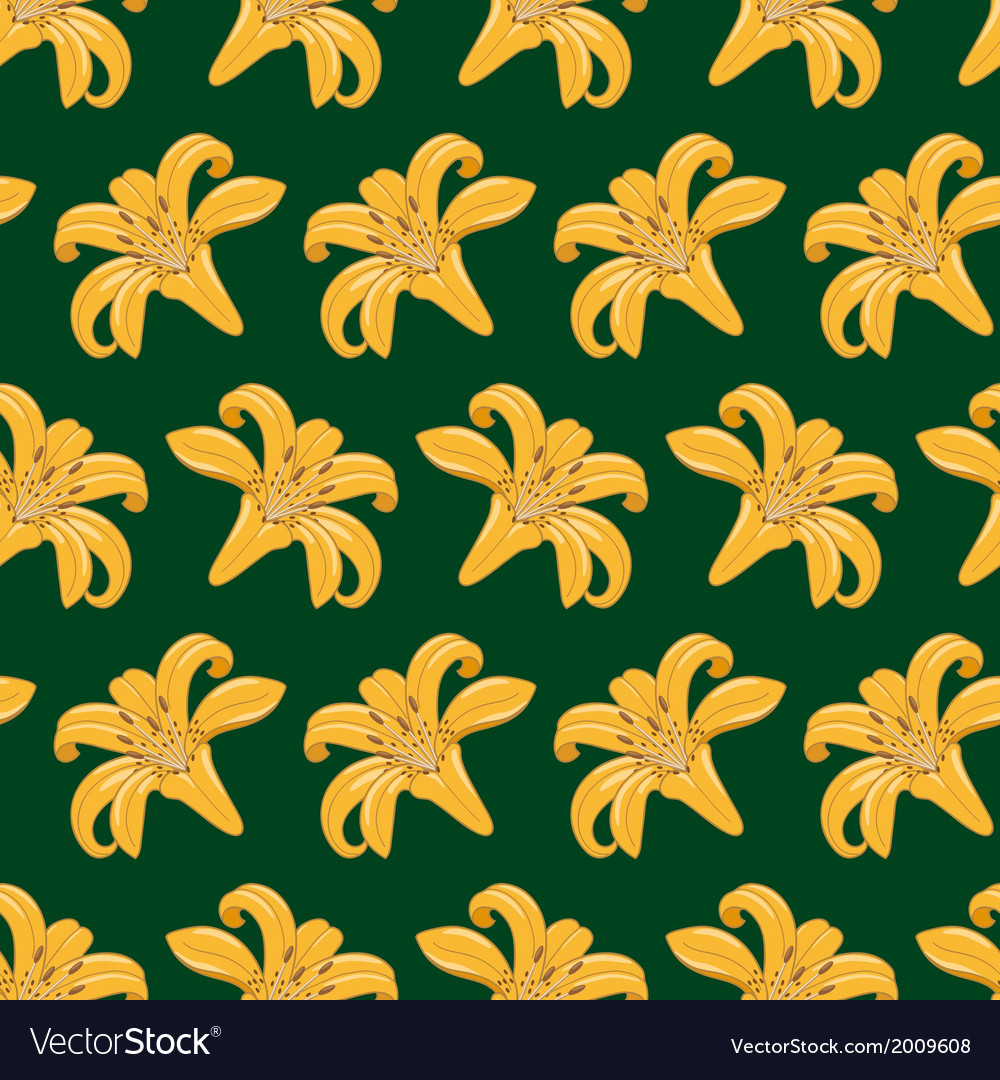 Tiger lilies seamless texture vector
