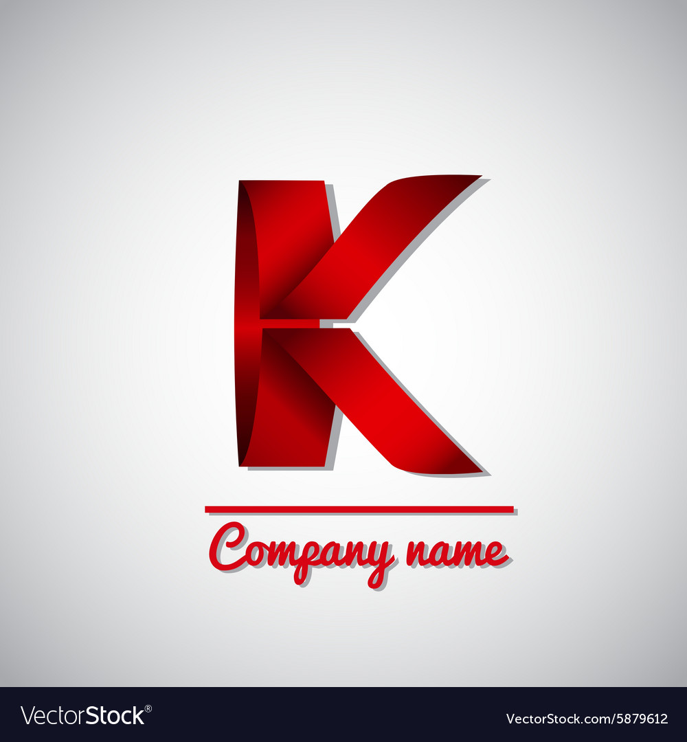 Icon of paper business logo letter k vector