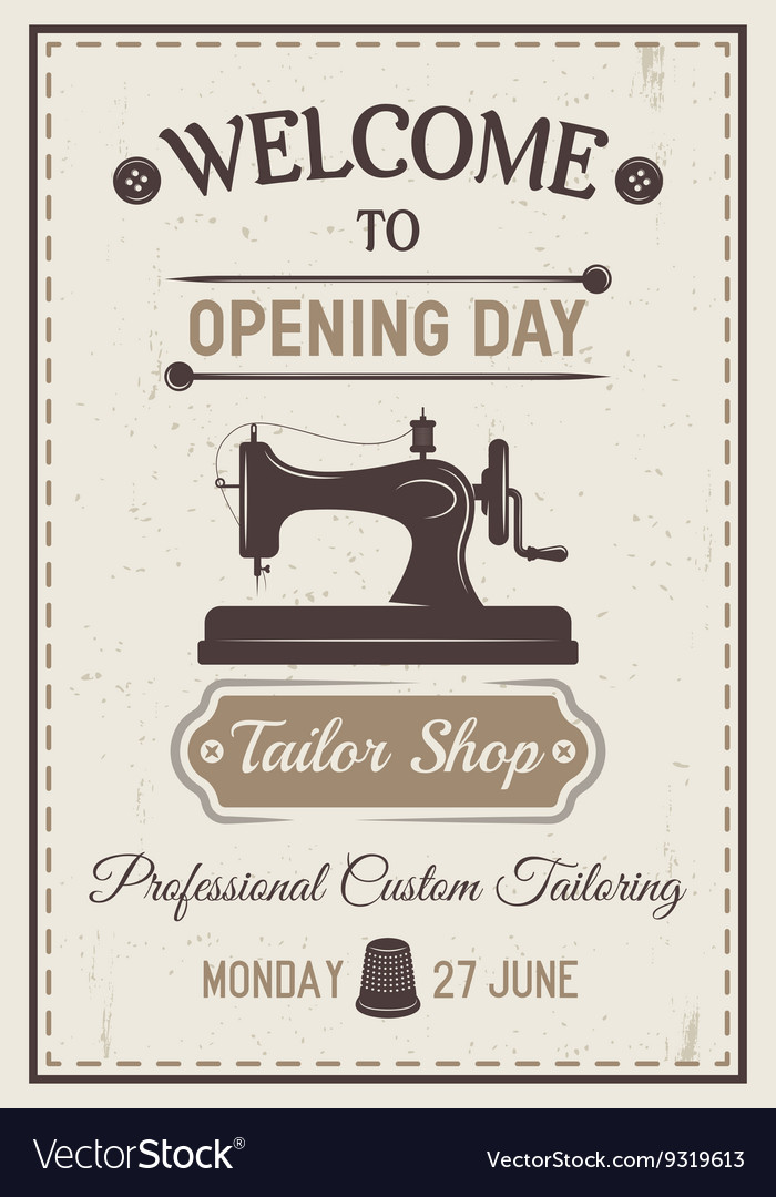 Gray tailor poster vector