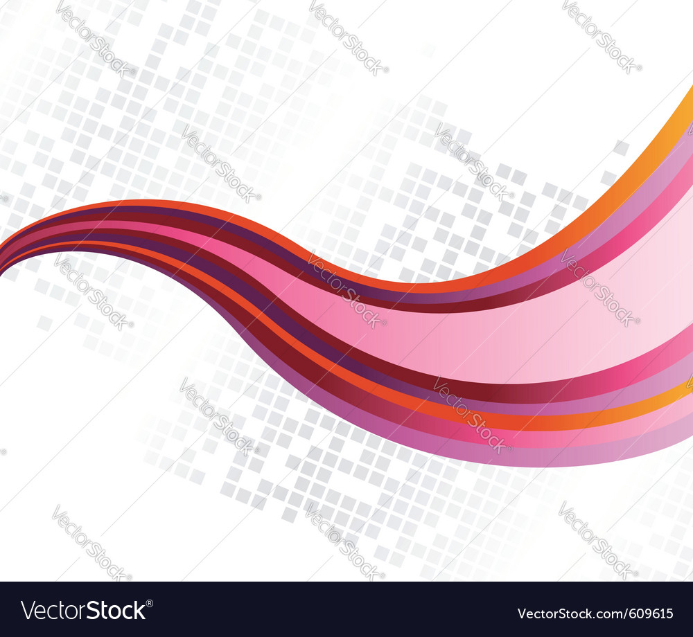Abstract rainbow wave on a card vector