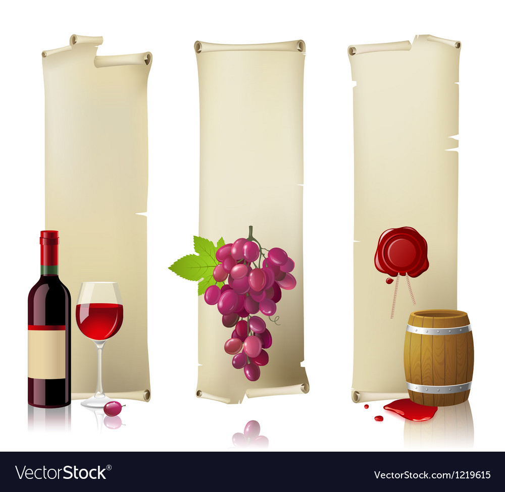 Wine banners vector