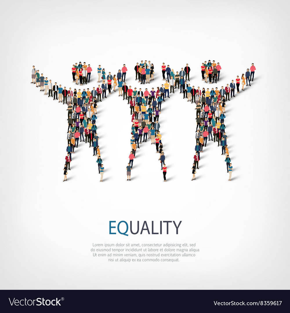 Equality people sign 3d vector