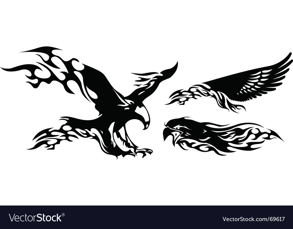 Fire eagle vector