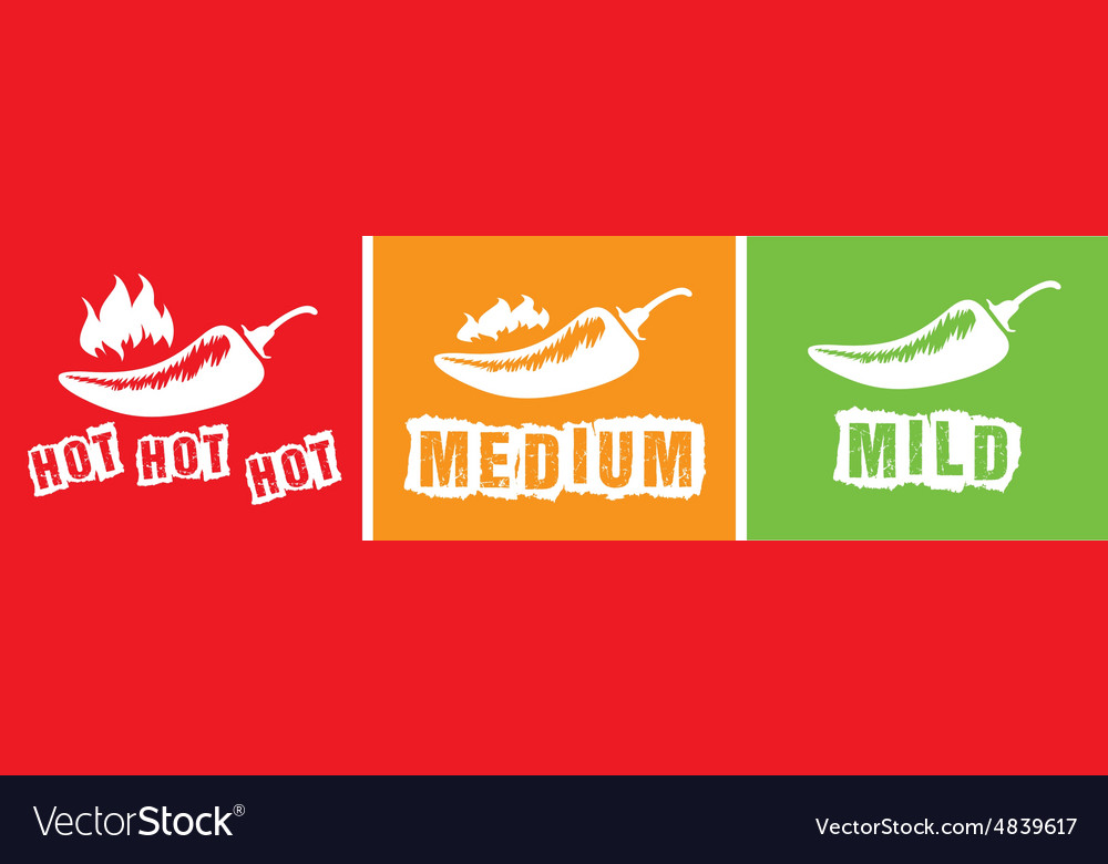 Hot chillis vector