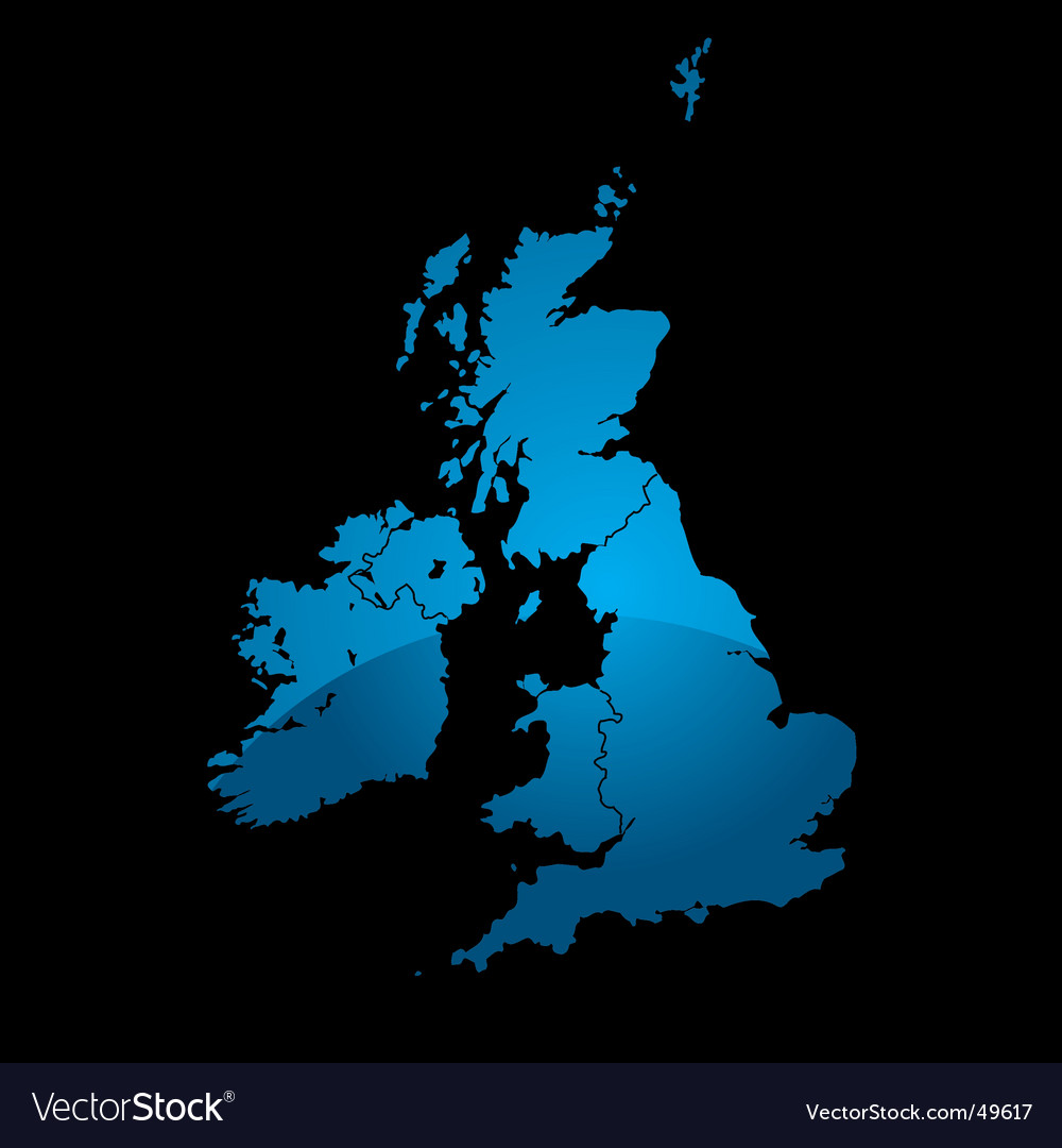 Uk map blue divide vector