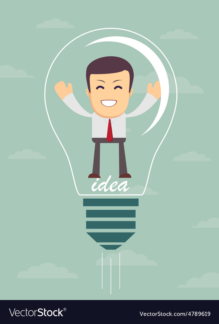 Businessman create idea vector