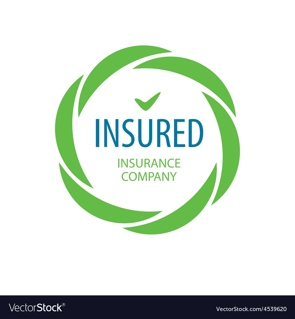 Abstract logo insurance company vector