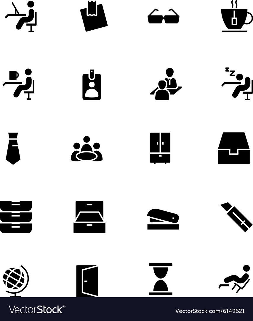 Office icons 4 vector