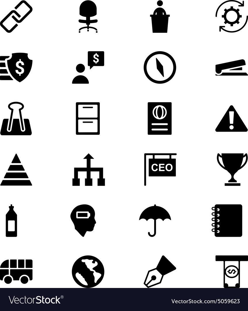 Business icons 6 vector