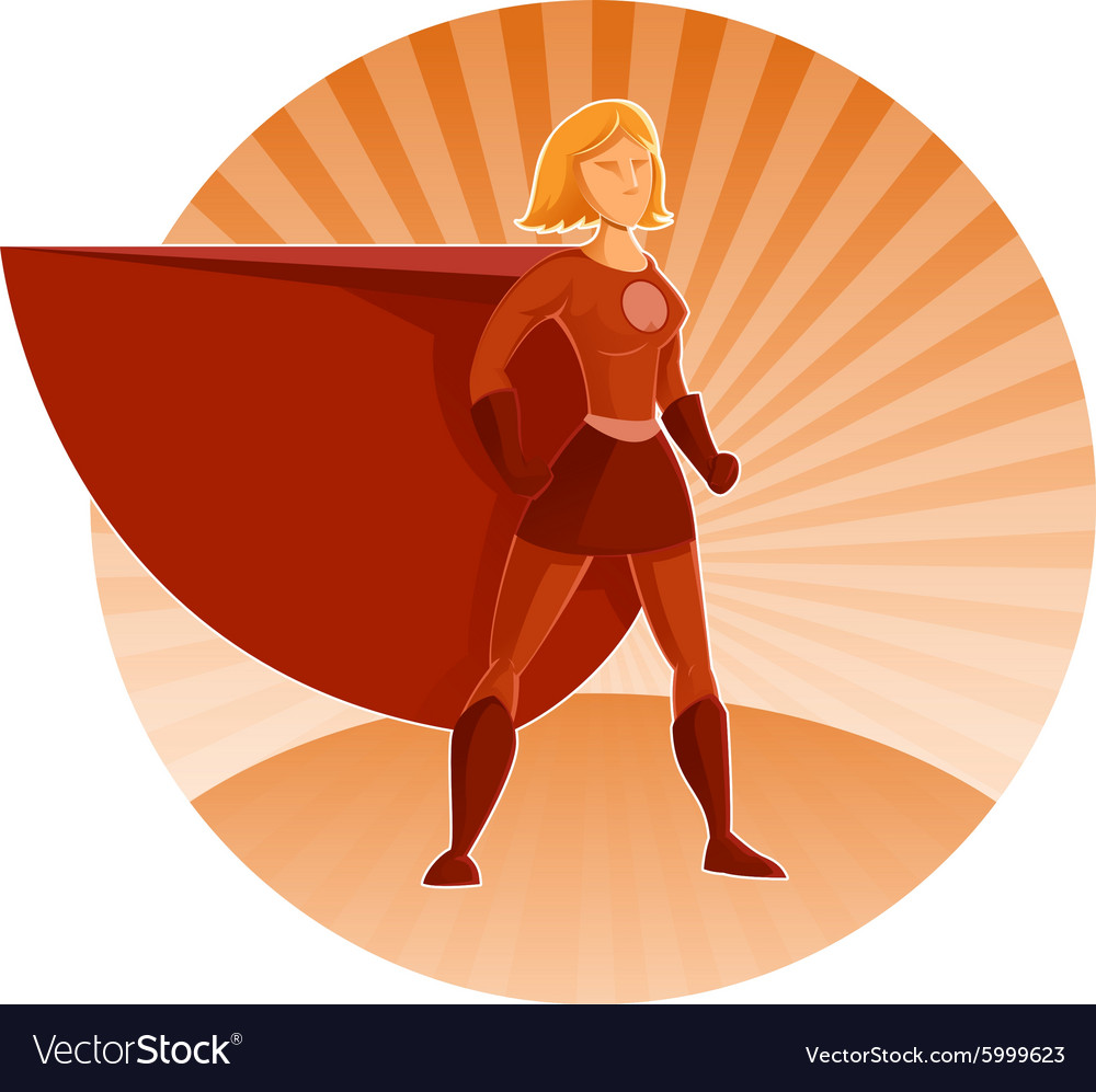 Super heroine vector