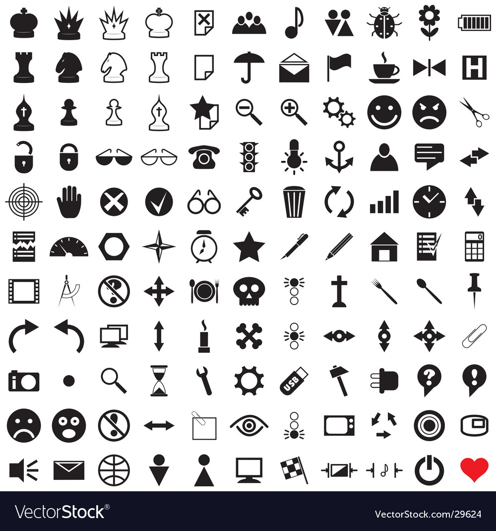 121 pictograms vector