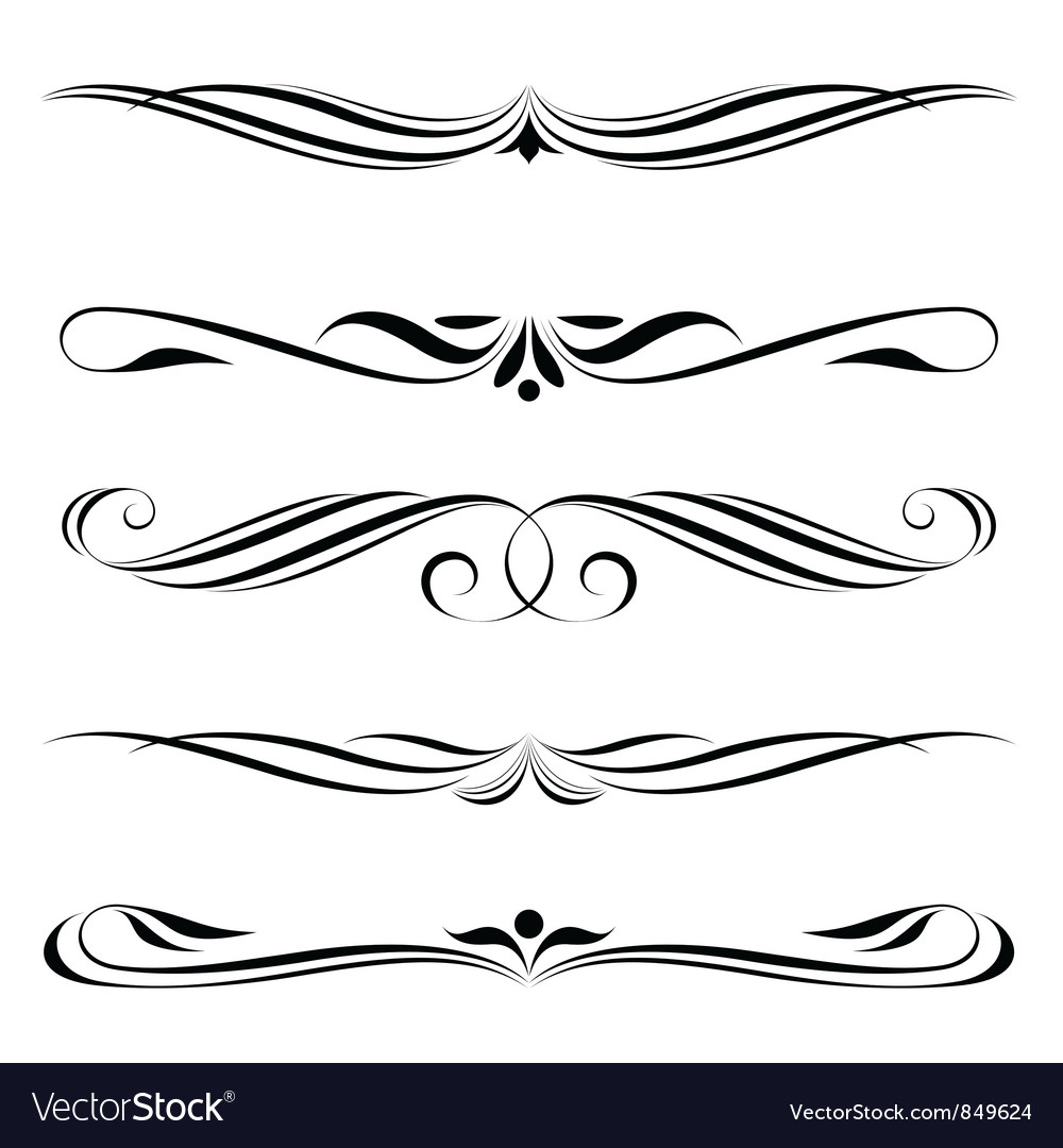 Decorative elements border vector